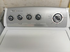#1711 Whirlpool heavy duty washer and dryer