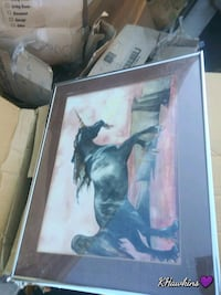 black and white horse painting Medford, 97501