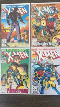 Four X-Men man comic books Toronto, M6E 3Z8