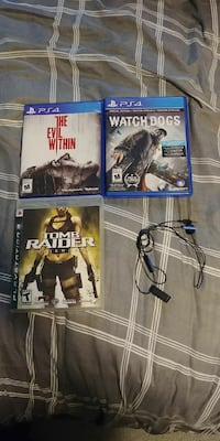 2 Ps4 games, 1 Ps3 game & Ps4 headset. Orangeville, L9W 3V6