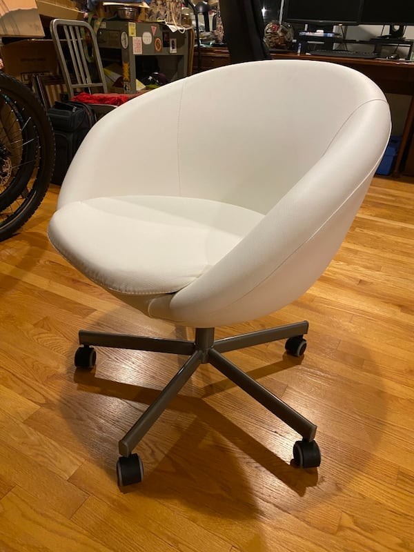 Ikea white swivel chair $100 OBO 3