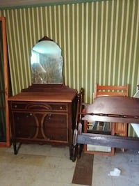 two brown wooden side tables Hamilton, L9C