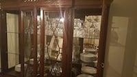 brown wooden china cabinet Houston, 77036