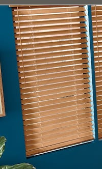 "2"" Horizontal Faux Wood Blinds $25.00"
