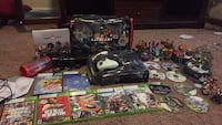 Black xbox 360 console with controller and game cases Cypress, 77429