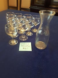 decanter and glasses  Vaughan, L4J 7Z4