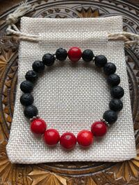 Lava Bracelet with Coral beads Niagara Falls, L2G 7Y4