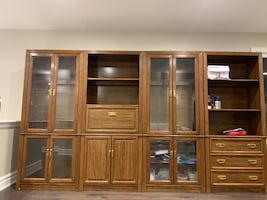Glass cabinets!