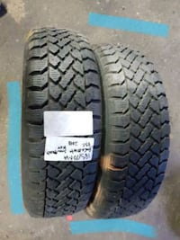 set of two___ 185/70R14 ___mud and snow ___tires  Port Coquitlam, V3C