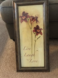 brown wooden framed painting of flowers Pearl City, 96782