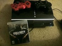 black Sony PS3 slim console with controller 51 km
