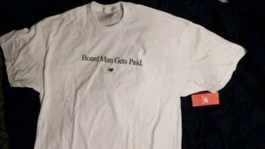 BNWT - men's Board man gets paid new balance tee