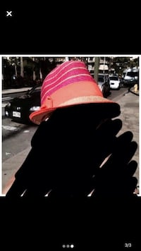 Fedora straw hat and Paul Brent beach bag Laval, H7E 5L2