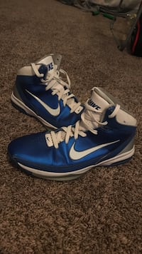 pair of blue-and-white Nike basketball shoes Ankeny, 50023