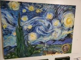Starry Night Doctor Who Painting