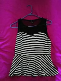 women's black and white stripes sleeveless mini dress Bakersfield, 93301