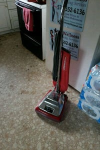 red and gray upright vacuum cleaner Jefferson, 21755