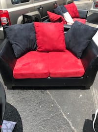 Red and black sofa set!  College Station, 77840