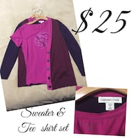 Women's pink coldwater creek long-sleeved shirt collage