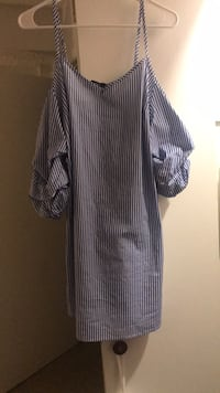 black and white striped long-sleeved dress 592 mi