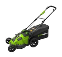 Greenworks TwinForce 40V 2-in-1 Cordless Push Lawn Mower, 20-in