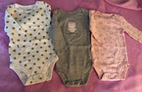 Carter's 3pk Long Sleeve Bodysuits - Owl Princess (6 Months) West Covina, 91792