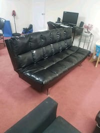 tufted black leather sectional sofa Valley Stream, 11581