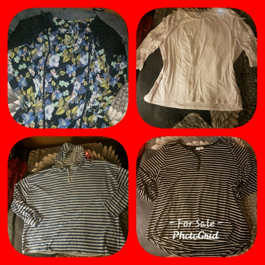 Ladies Tops Size 3X $30 for all 4