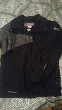 black and gray Columbia jacket
