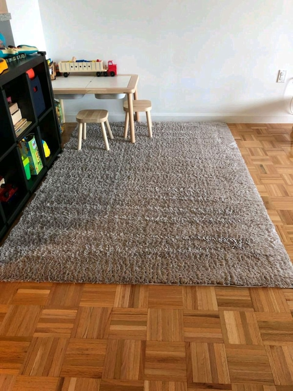 Gray Plush Area Rug Carpet