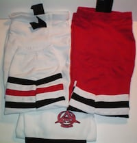 Hockey Socks 2 Sets Chicago Black Hawk Colours Home and Away London