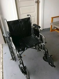 black and gray folding wheelchair North Highlands, 95660