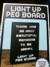Light up peg board Rockville, 20852