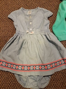 Gray denim like dress size 18m