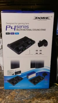 PS4 Vertical cooling stand with controller charging.