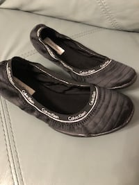 pair of black leather slip-on shoes Toronto, M9V 2H8