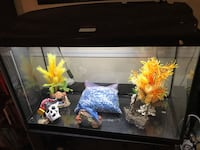 Black framed clear glass fish tank Elkridge, 21075