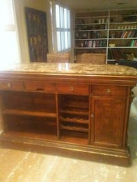 Marble top solid wood bar. Grand Rapids, 49506