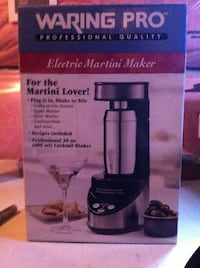 Waring Pro Professional Electric Martini Maker -New in box, never used