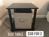 black and white wooden TV stand 761 mi