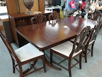rectangular brown wooden table with four chairs dining set Houston, 77018