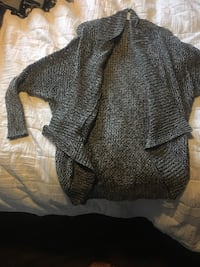 Gray knitted open front cardigan Clarence-Rockland, K4K