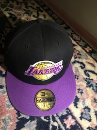 svart og lilla Los Angeles Lakers New Era cap Vennesla, 4700