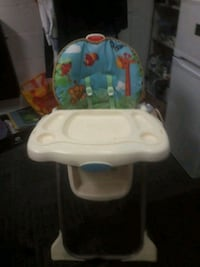 baby's white and blue high chair Greater London, SE19 3TE