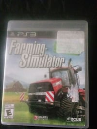 PS3 Farming Simulator game