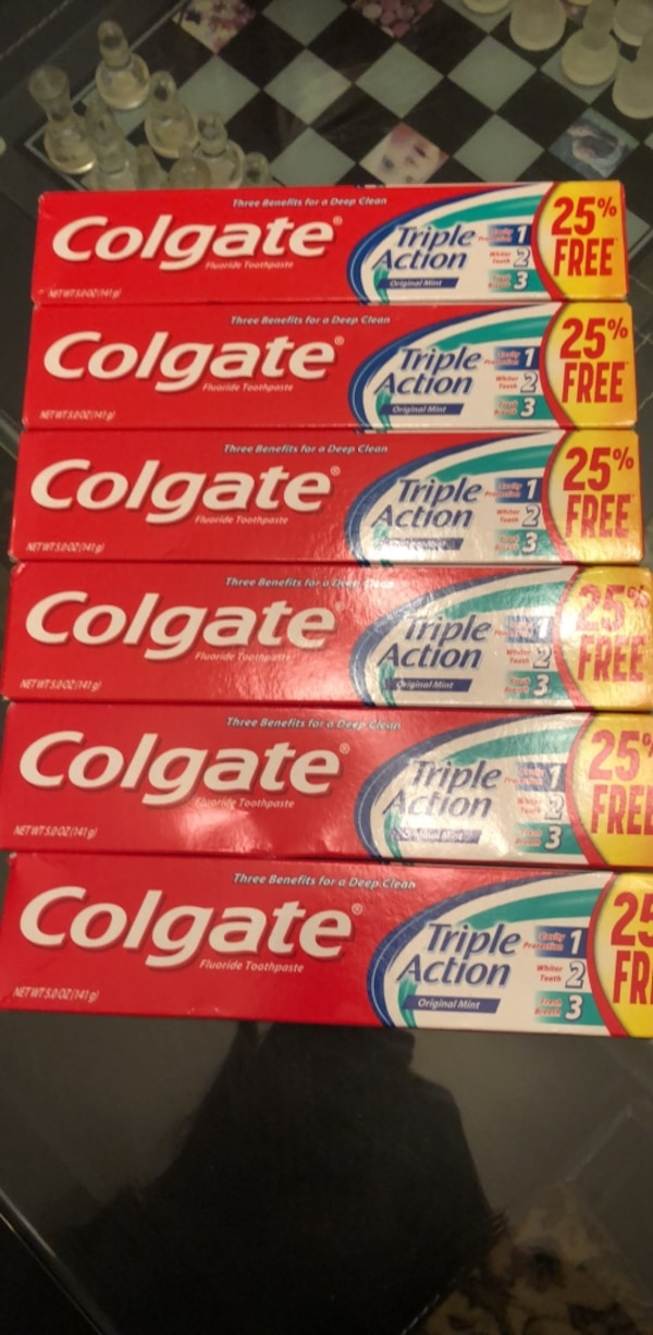 6 Colgate 5oz packs