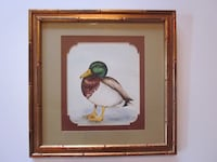 Original Duck Watercolor M.L. Troutman Signed Framed Catharpin