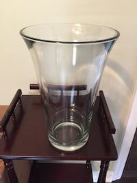 Heavy, thick glass vase. Measures 11 3/4 in height. No chips or cracks. Ocala, 34476