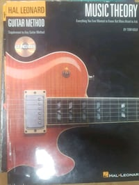 Hal Leonard guitar music theory instructional book comes with CD