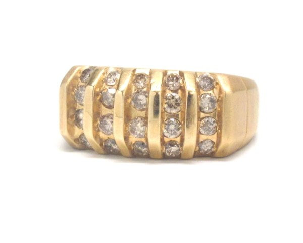 Mens 14K Diamond Ring